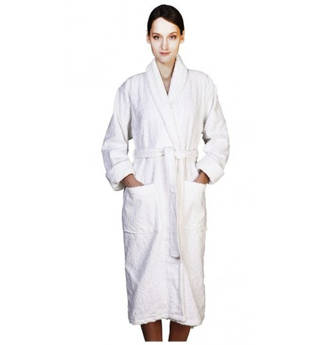 Банный халат SL с шалькой XL (52) белый