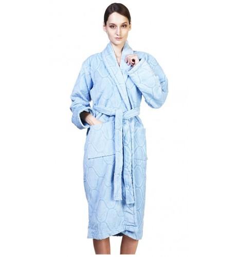 Банный халат SL с шалькой L (50) голубой