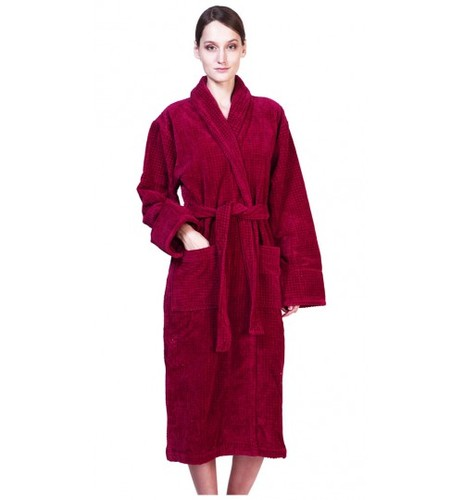 Банный халат SL с шалькой XХL (54) бордовый