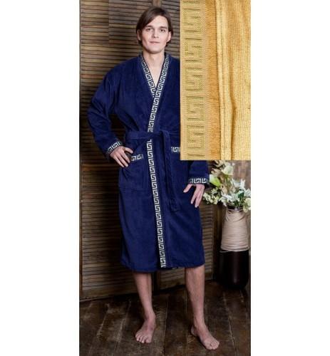 Мужской банный халат SL XХXL (56) синий