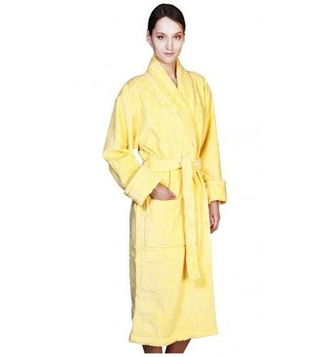 Банный халат SL с шалькой L (50) желтый