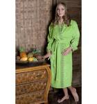 Банный халат SL с вышивкой XL (52) зеленый
