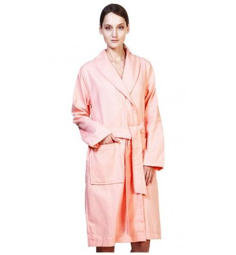 Вафельный банный халат SL ХL (52) персиковый