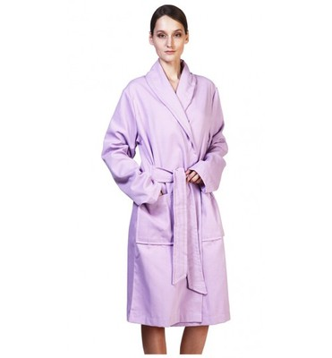 Вафельный банный халат SL L (50) сирень