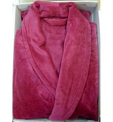 Банный халат SL PLAIN-LUX М (48) бордовый