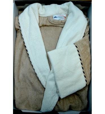 Банный мужской халат SL Бамбук L (50) бежевый