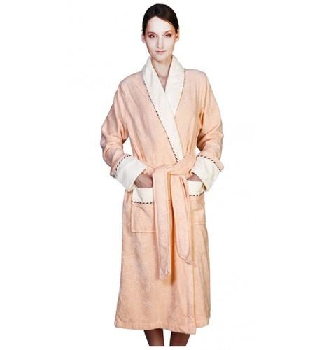 Банный халат SL Бамбук XХL (54) персиковый