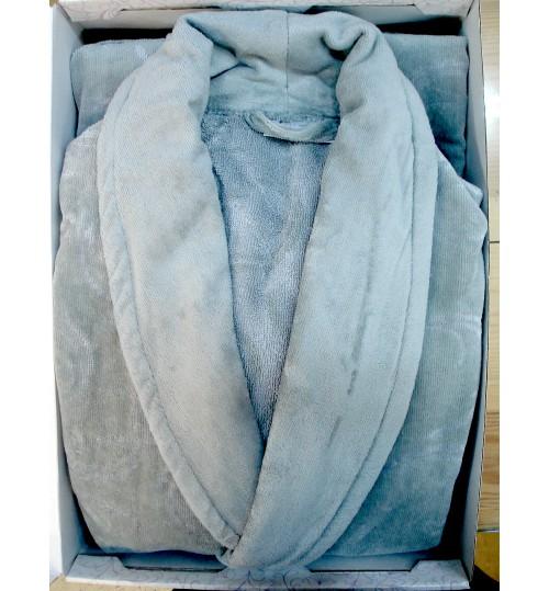 Банный халат SL PLAIN-LUX L (50) серый