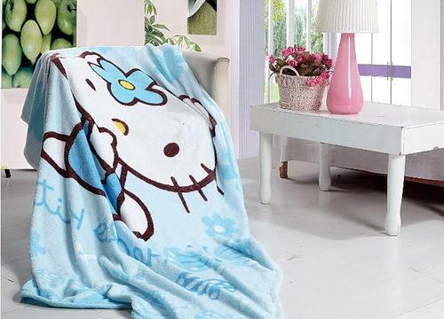 Детский плед Hello Kitty Blue
