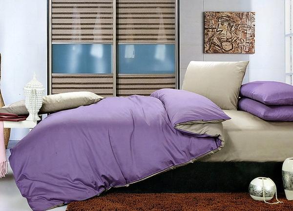 Постельное белье Duo Beige/Purple