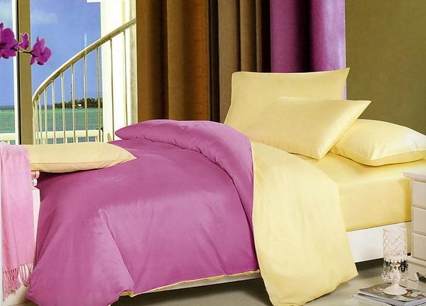 Постельное белье Duo Lilac/Yellow