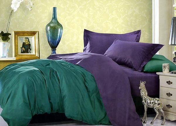 Постельное белье Duo Green/Purple