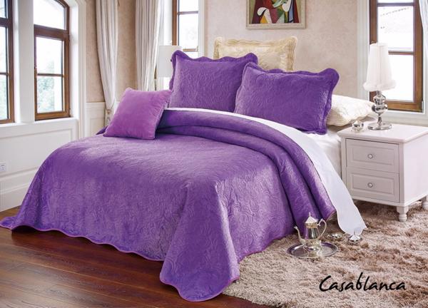 Покрывало с наволочками Casablanca фиолетовый cas2426-27