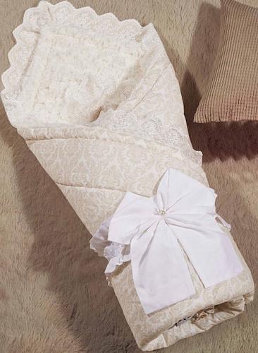 Одеяло-конверт Бамбини Кружево (бежевый)