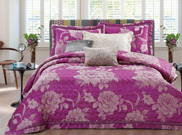 Покрывало с наволочками Jacquard ярко-фиолетовый
