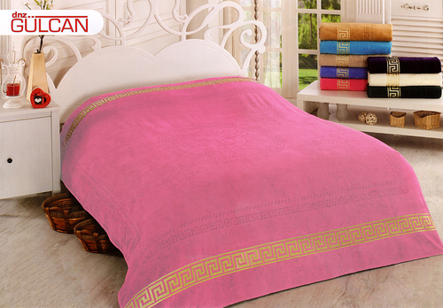 Простыня Gulcan Greek Cotton 190х220 см Pink