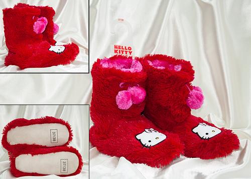Сапожки домашние Hello Kitty 7026-02