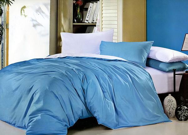 Постельное белье Duo Blue/White