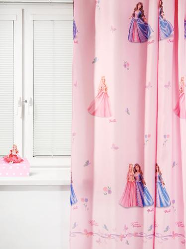 Портьера детская БАРБИ ИСЛАНДИЯ, розовый