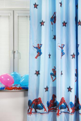 Портьера детская SPIDERMAN, голубой