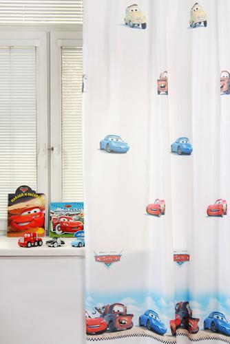 Портьера детская CARS, белый