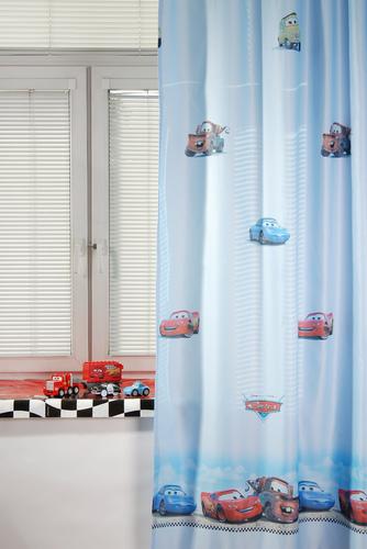 Портьера детская CARS, голубой