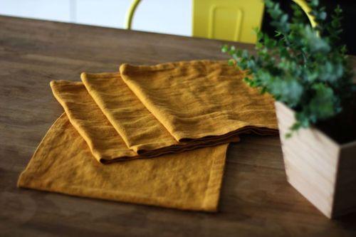 Льняная сервировочная салфетка Orange 25х50 см