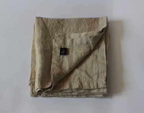 Льняная салфетка бежевая Soft Linen 35х35 см