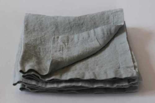 Льняная салфетка мягкая Winter Grey 50х50 см