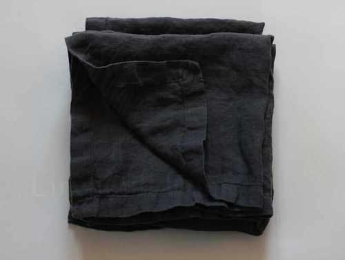 Мягкая салфетка из льна Dark Grey 50х50 см