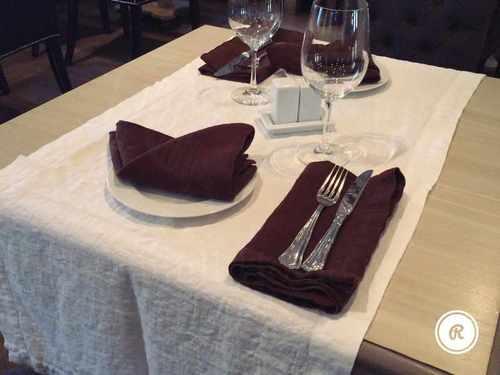 Коричневая льняная салфетка Soft Linen 50х50 см