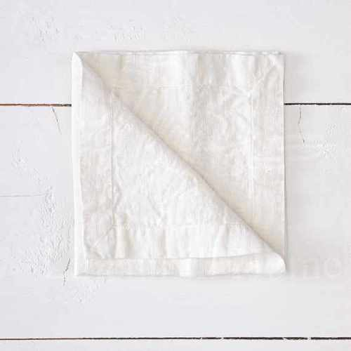 Белая салфетка сервировочная Soft Linen 40х40 см