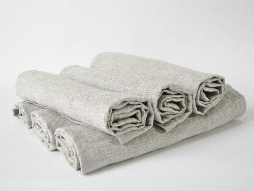 Льняная салфетка серая Soft Linen 50х50 см