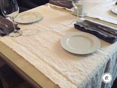 Столовая дорожка из мягкого льна Milka 50х150 см