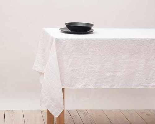 Белая скатерть Soft Linen 180х200 см
