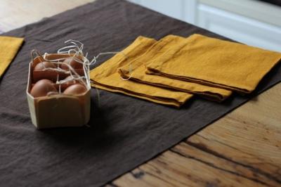 Коричневая дорожка с 6-ю горчичными салфетками