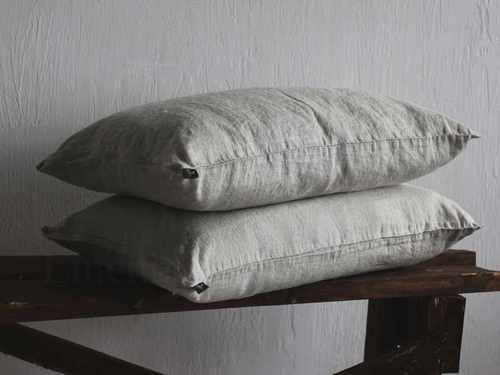 Мягкая льняная наволочка Soft Linen 50х70 см