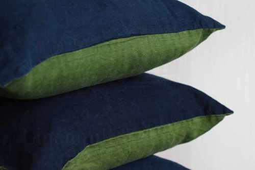 Двухцветная наволочка сине-зелёная 50х70 см