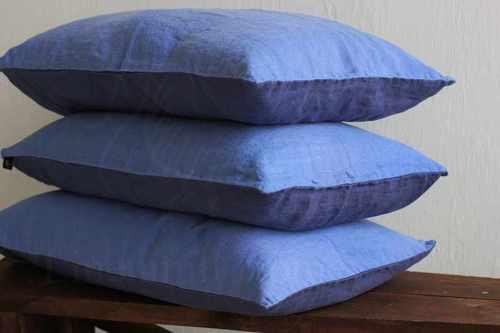 Двухцветная наволочка фиолетово-голубая 50х70 см