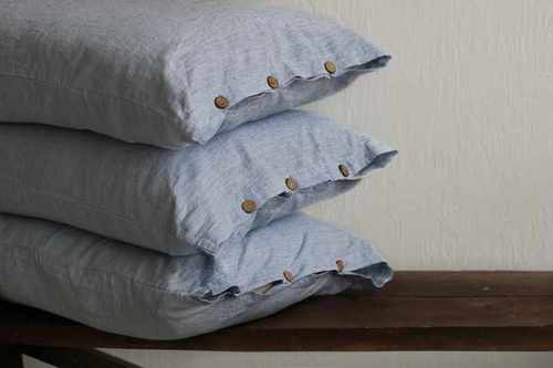 Льняная наволочка Soft Linen 50х70 см Полоска Моря