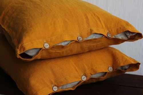 Льняная наволочка 50х70 см Amber Sleep