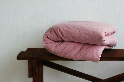 Льняной пододеяльник 160х220 см Pink