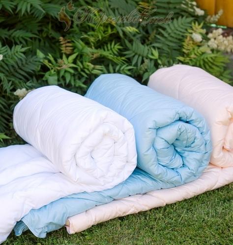 """Одеяло """"В нежности микрофибры"""", голубой"""