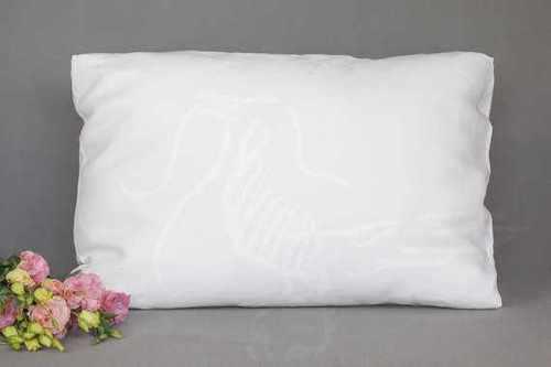 Белая льняная наволочка Natural Linen 50х70 см