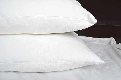 Белая льняная наволочка Natural Linen 70х70 см