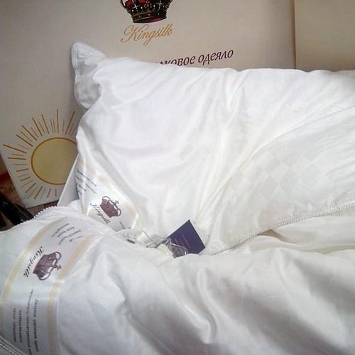 Одеяло с подушкой KingSilk White