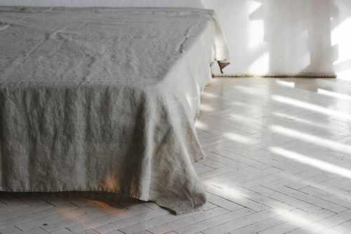 Льняная простыня 230х240 см Pastel Ash