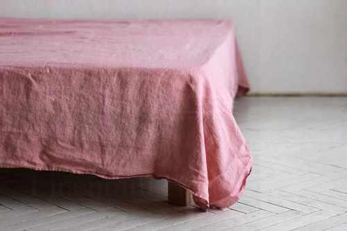 Льняная простыня 230х240 см Delicate Pink