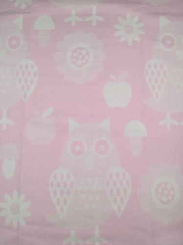 Байковое одеяло-плед Valtery Розовая сова