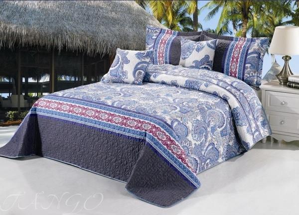 Покрывало с наволочками Madeira голубой TG2426-07